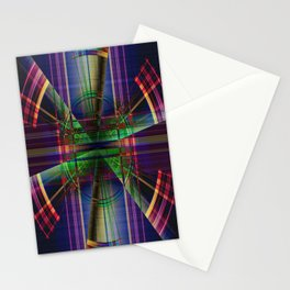 Plaid Movement 001 - Geometric - Unique Plaid - Colorful Plaid - Corbin Henry Stationery Cards