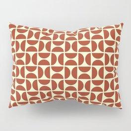 HALF-CIRCLES, RED Pillow Sham