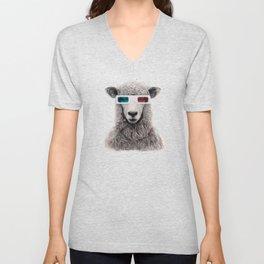 3D sheep Unisex V-Neck