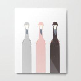 Triple Flamingos Metal Print