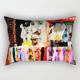 Lady in Yangshuo Rectangular Pillow