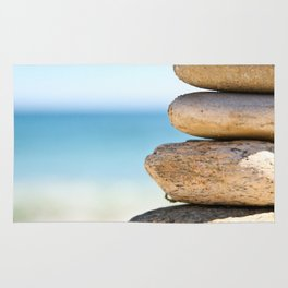 stacked rocks Rug