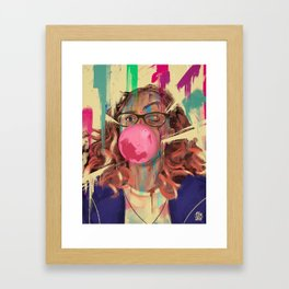 What are you drawing Ryan? // 227 Framed Art Print