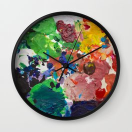 Palette of Colors Wall Clock