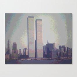 1970's Original Instagram L@@K photo of the World Trade Center with a digital tweak Canvas Print