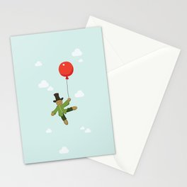 Scarecrow in balloon  Stationery Cards
