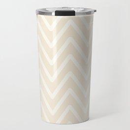 Chevron Wave Bisque Travel Mug