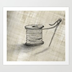 Sewing Time Art Print