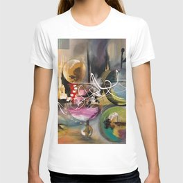 Abstract landscape color bubbles energy memories earth  T-shirt
