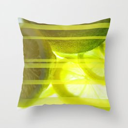 Light & Limes Striped Abstract Design Throw Pillow
