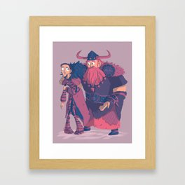 Valka&Stoick Framed Art Print