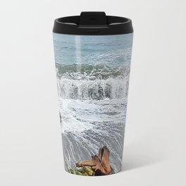 Sea Climbs into the Grass Travel Mug