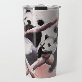 Lazy days Panda's by Machale O'Neill Travel Mug
