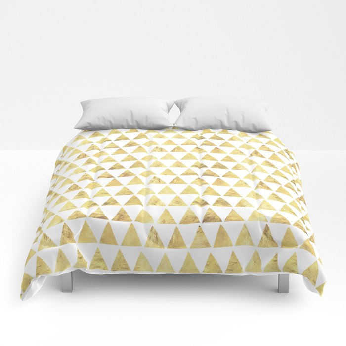 Triangles gold 6 Comforters