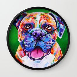 Boxer Dog Bright Painting Wall Clock