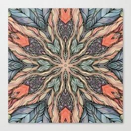 Autumn Leaves Mandala Canvas Print