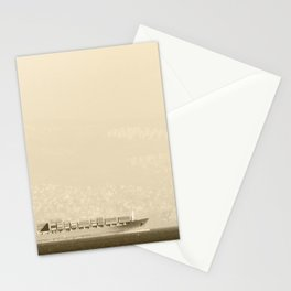 Cargo boat on the sea at Izmir (Turkey) Stationery Cards