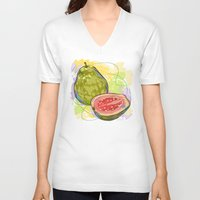 vietnam V-neck T-shirts featuring Vietnam Guava by Vietnam T-shirt Project