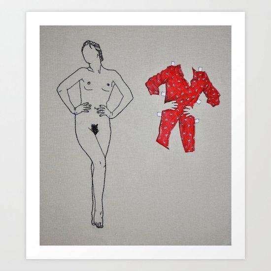 Paper Doll No. 1 Art Print