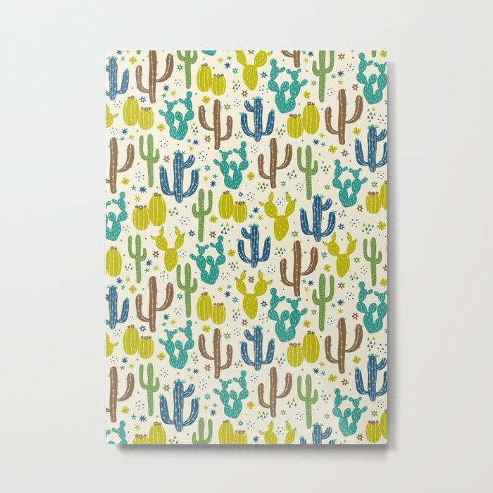 Prickly Cactus (Greens) Metal Print
