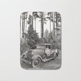 Buck Nasty's Moonshine Model A Ford Vintage Truck Skeleton Bath Mat
