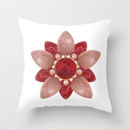 savage flora # 3 Throw Pillow