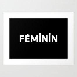 French New Wave - Feminin Art Print