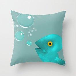 Silent as a Fish Throw Pillow