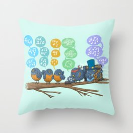 Spring Birds Throw Pillow