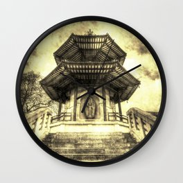 The Pagoda Battersea Park London Vintage Wall Clock