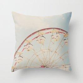ferris wheel print  Throw Pillow
