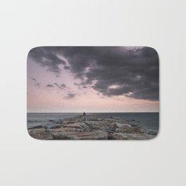 Living at the sea.... Dream beach at sunset Bath Mat