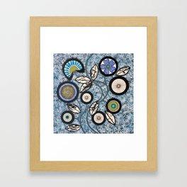 Lovely Flowers Blue Framed Art Print