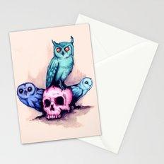 Skull & Owls Stationery Cards