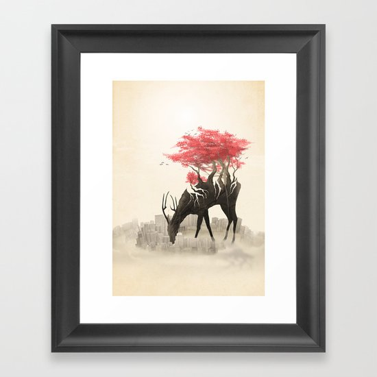 Revenge of the forest Framed Art Print