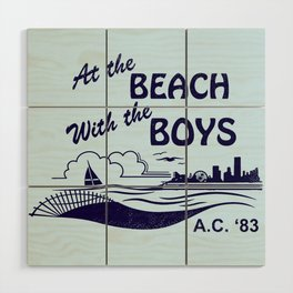 At the Beach with the Boys Wood Wall Art