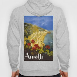 Vintage Amalfi Italy Travel Hoody