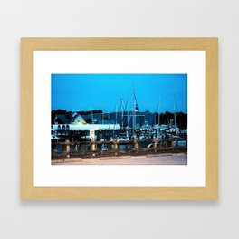 Port St. Joe Marina view 3 Framed Art Print