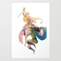 hyrule Art Prints featuring Hyrule Warriors by TwilightSaphir