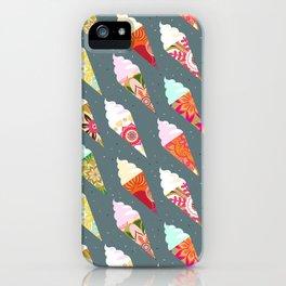 Mandala ice cream | gray  iPhone Case