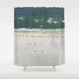 Beach Below Shower Curtain
