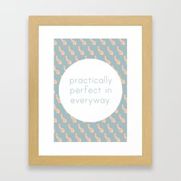 Practically Perfect - Penis in Blue Framed Art Print