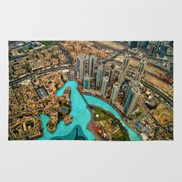 Views from Burij Khalifa in Dubai Rug