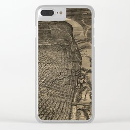 Vintage Pictorial Map of St Louis MO (1876) Clear iPhone Case