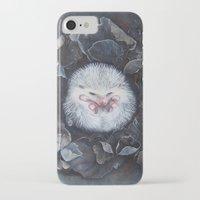 hedgehog iPhone & iPod Cases featuring Hedgehog by Marjolein Caljouw
