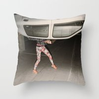grand theft auto Throw Pillows featuring Grand Theft Auto by Linas Vaitonis