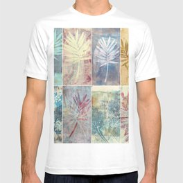 Monoprint collage of leaves T-shirt