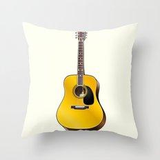 Acoustic guitar illustration Throw Pillow