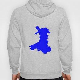 Silhouette Map Of Wales Hoody