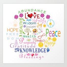 Inspirational Words Art Print